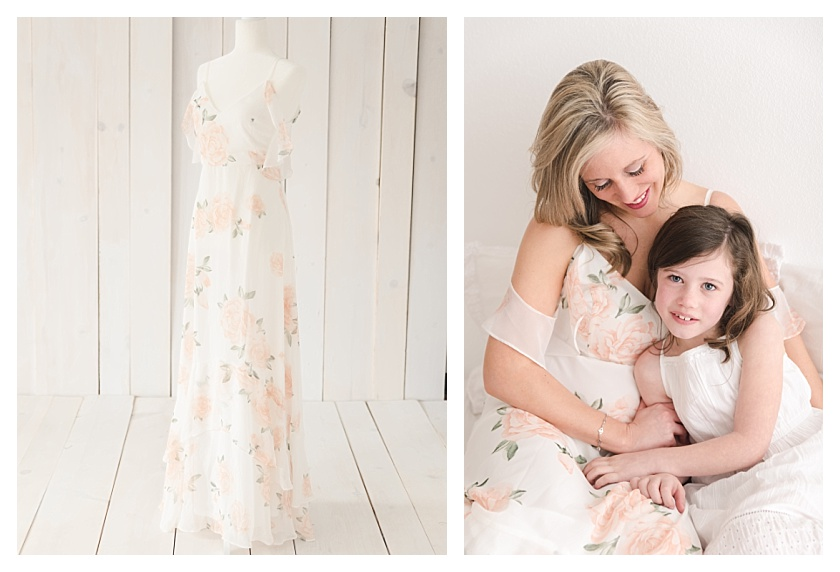Collage with Client Wardrobe Lulu's Maxi Dress and mommy and me photo